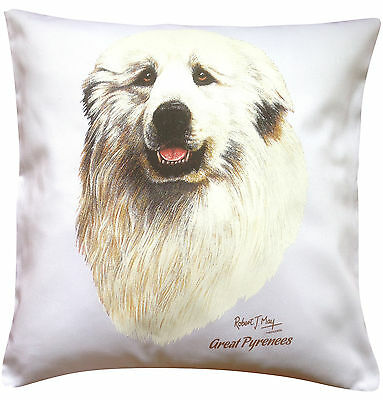 Great Pyrenees  RM Breed of Dog Themed Cotton Cushion Cover - Perfect Gift