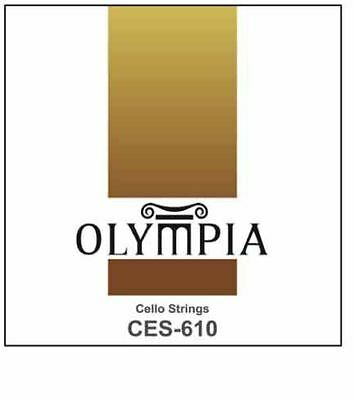 Quality Olympia Cello Strings Chrome Silver Flatwound full set