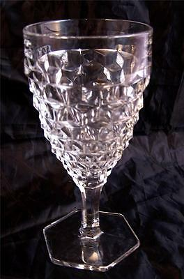 Fostoria American Water Goblet Hex 6 sided Base Mulitples Available Excellent