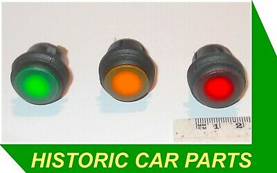 RED AMBER GREEN LED PUSH ON PUSH OFF SWITCHES 10amp 12v  Dashboard Single Pole