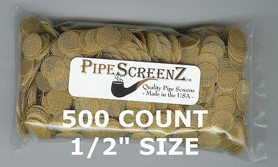 "500+ Count 1/2"" .500"" 12.66mm BRASS Pipe Screens HIGHEST QUALITY - MADE IN USA!"