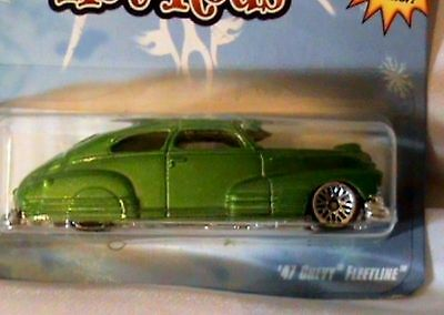 HOT WHEELS '47 CHEVY FLEETLINE WITH SNOWFLAKE DESIGN 2009 HOLIDAY HOT RODS RARE