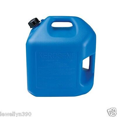 MIDWEST 7600 5 GALLON BLUE PLASTIC EPA COMPLIANT Kerosene FUEL CAN CONTAINER NEW