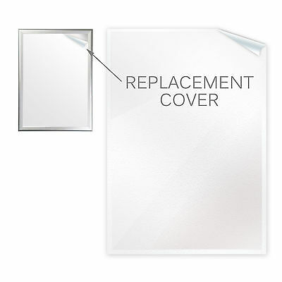 A0 A1 A2 A3 A4 Anti-glare Poster Covers for Snap Frames & Pavement A-Board Signs