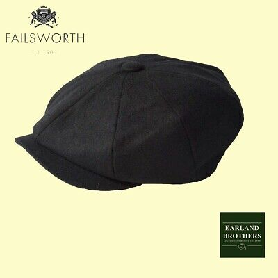 SALE Failsworth Black Peaky Shelby Cap Baker Boy Newsboy Wool mix Cabbie 8 piece