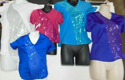 NWT Wolff Fording Dance COSTUME Faux Sequin V-Neck pullover CHILD & Men SIZES