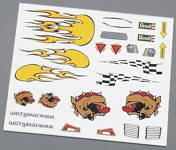Revell Pinewood Derby Dry Transfer Decal B