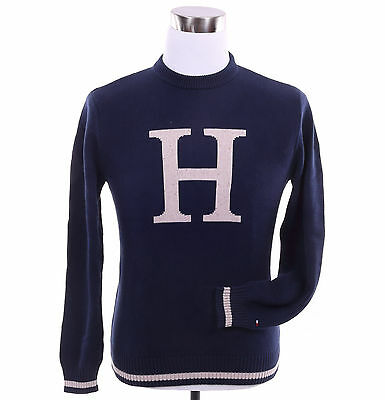 Tommy Hilfiger Men Classic Crew-Neck H Logo Long Sleeve Sweater - Free $0 Ship