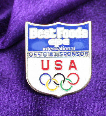 Collector Rare Olympic Pin Best Foods - 1988 Game Food Sponsor