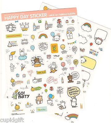 Pony Brown Happy Day Sticker Diary Gift Wrapping Cute Decor Birthday Anniversary