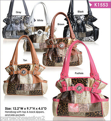 Wholesale Lot of 10 Women Fashion Patchwork Purse Handbags, New with Tags!