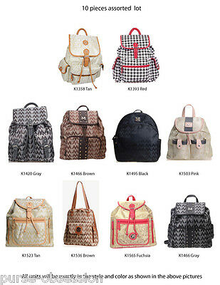 Wholesale Lot of 10 Designer Inspired Hobo Tote Shoulder Bag - New with Tags
