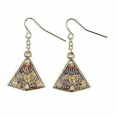 Mystica Fashion Egyptian Falcon And Pyramid Earrings Pewter Alloy