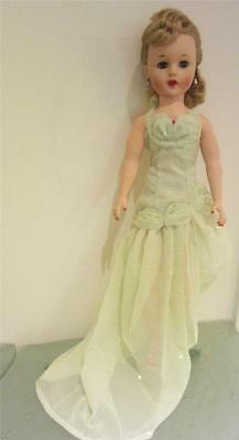 "1950s 21"" High Heel Fashion Doll Blonde Vintage Rubber Vinyl + Custom Clothing"