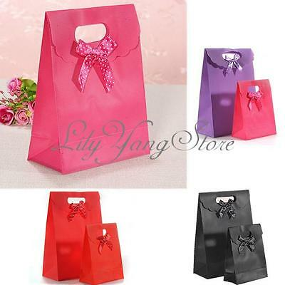 Large/Small Soild Bowknot Beauty Flip Plastic Present Gift Tote Storage Hand Bag