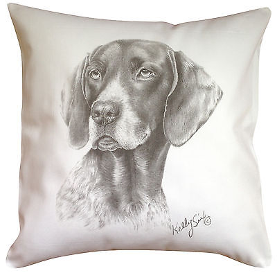 German Shorthaired Pointer MS Breed of Dog Cotton Cushion Cover - Perfect Gift