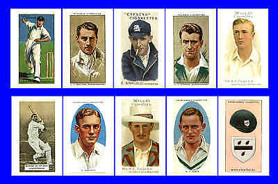 Worcestershire - Cigarette Card Heroes -  Postcard Set # 1