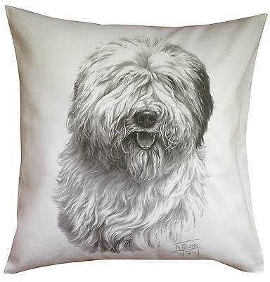 Old English Sheepdog MS Breed of Dog Themed Cotton Cushion Cover - Perfect Gift