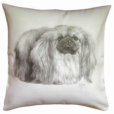 Pekingese MS Breed of Dog Themed Cotton Cushion Cover - Perfect Gift