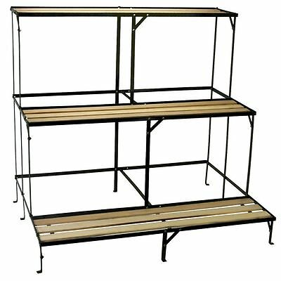 etagere d 39 angle m tal porte plantes metal plante serre veranda fleurs pot semis. Black Bedroom Furniture Sets. Home Design Ideas