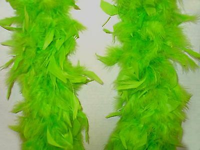 Lot of 6 Green Feather 6ft Boas costume accessory