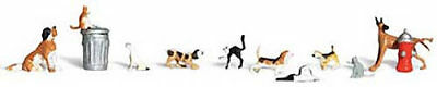 NEW Woodland Scenics Dogs & Cats N A2140