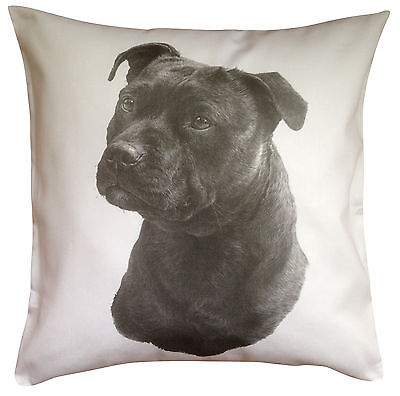 Staffordshire Bull Terrier Staffie MS Dog Cotton Cushion Cover - Perfect Gift