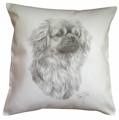 Tibetan Spaniel MS Breed of Dog Themed Cotton Cushion Cover - Perfect Gift