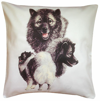 Keeshond Group Breed of Dog Themed Cotton Cushion Cover - Perfect Gift