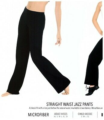 NWT CAPEZIO BLACK BOOTCUT JAZZ PANTS Child DANCE TB118C