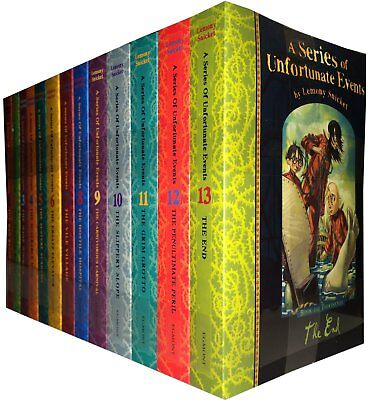 Unfortunate Events Series Collection Lemony Snicket 13 Books Pack Set NEW