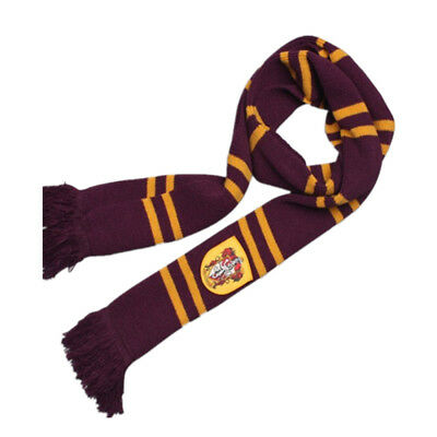 Harry Potter Gryffindor Thicken Wool Knit Scarf Wrap Soft Warm Costume Xmas