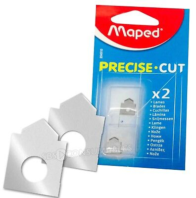 Maped Precise Cut A4 Trimmer Blades Pack Of 2. Small Trimmer Blades **894910**