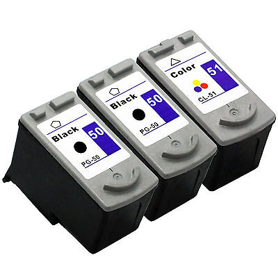 3 Canon PG-50 CL-51 Ink Cartridges For Pixma MP150 MP160 MP460 MX300 MX310 MP170