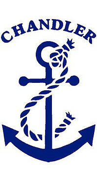 Baby Room Wall Decor Nautical Ocean Anchor Themed Baby Nursery Personalized