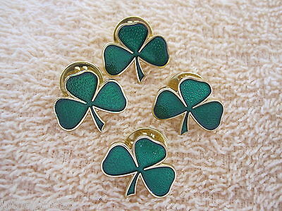 Saint Patrick's Day 4 Piece Shamrock Lapel Pins St Patrick's Shamrock Pin Set