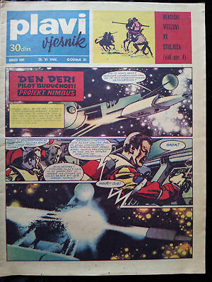 Plavi Vjesnik # 509 1964 Den Deri Dan Dare Tom Njuskalo Journal Yougoslavie RARE