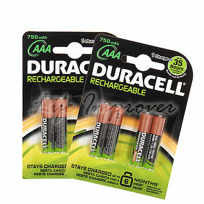 Pile Rechargeable Duracell AAA Accu 750Mah 1.2V LR6 HR6 DC1500 Lot x8