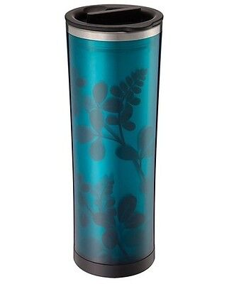 Takeya Double Wall Stainless Travel Tea Coffee Tumbler Removable infuser Blue