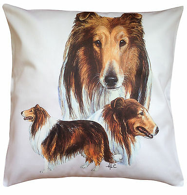 Rough Collie Group Breed of Dog Cotton Cushion Cover - Perfect Gift