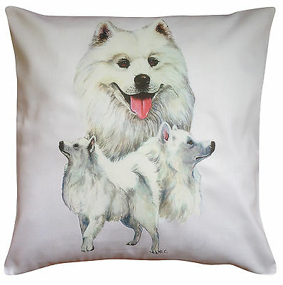 Samoyed Group Breed of Dog Cotton Cushion Cover - Perfect Gift