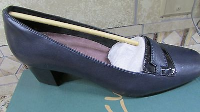 4fa5f766c454 New Clarks Levee Delta Navy Pumps Shoes Womens 11 Navy Blue Leather