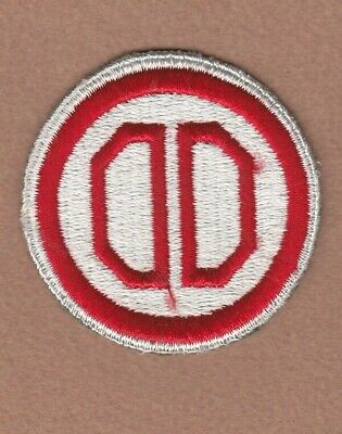 Army Patch: 31st Infantry Division - WWII era with white border
