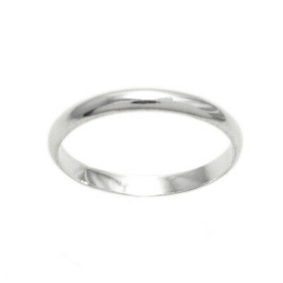925 Sterling Silver 2mm Plain Baby/Child Band Ring Size 1-4