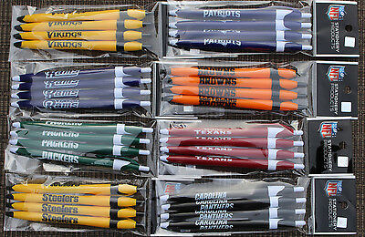 ( 8 PENS ) NFL Click Pens Plain Color ( All Teams ) Black Ink Official Licensed