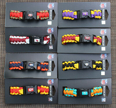 NFL Survivor Paracord Bracelet Team Color Official licensed ( Pick Your Team )