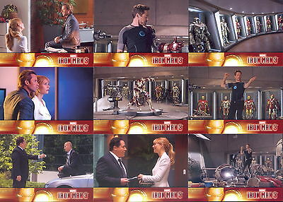 Iron Man Movie 3 2013 Upper Deck Complete Base Card Set Of 60 Marvel Comics