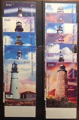 Gambia 2004 Lighthouses Set Sg411/422 Unmounted. Mint
