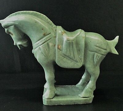 Factory Sale: Real Jade Saddled Tang Horse (Lh6)