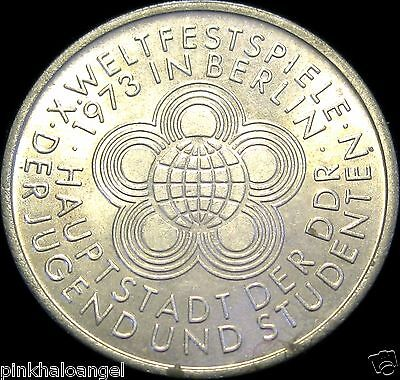 East Germany - DDR -  German 1973A 10 Mark Coin - 10th Youth Festival Games